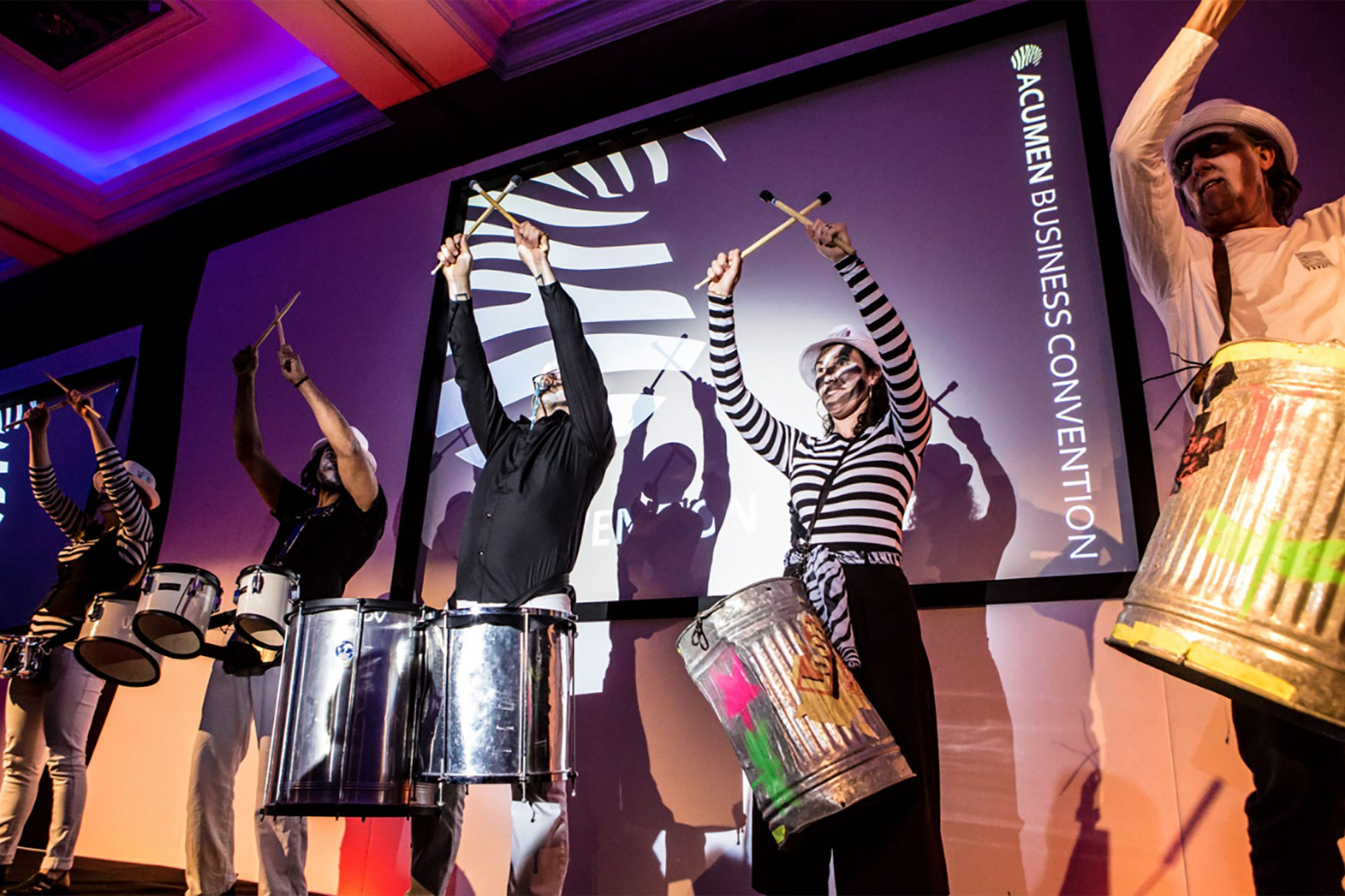 Acumen Business Convention drummers